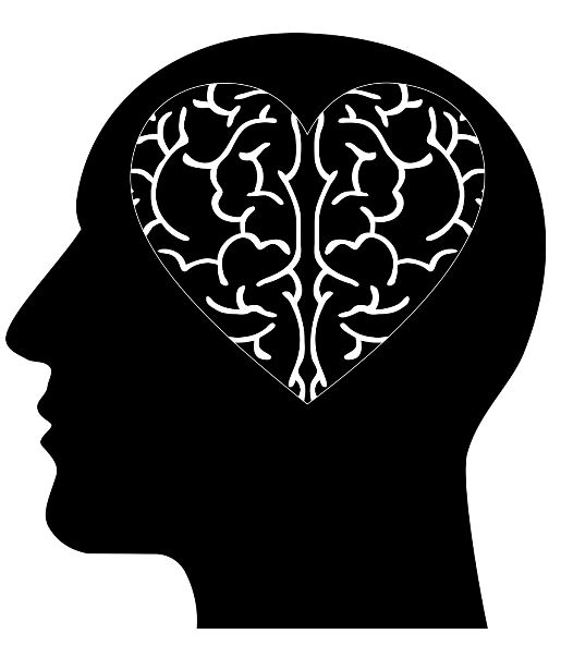 silhouette of a head with a heart image in the brain Image by Gordon Johnson from Pixabay
