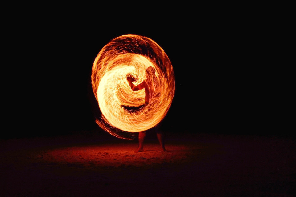 photo of man swirling ball of fire Image by Free-Photos from Pixabay