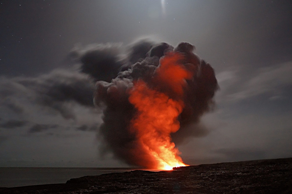 erupting volcano Image by Adrian Malec from Pixabay