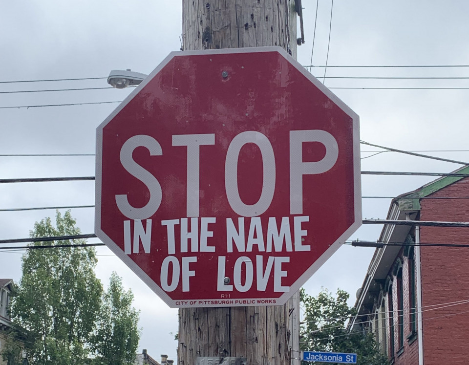 photo of stop sign with