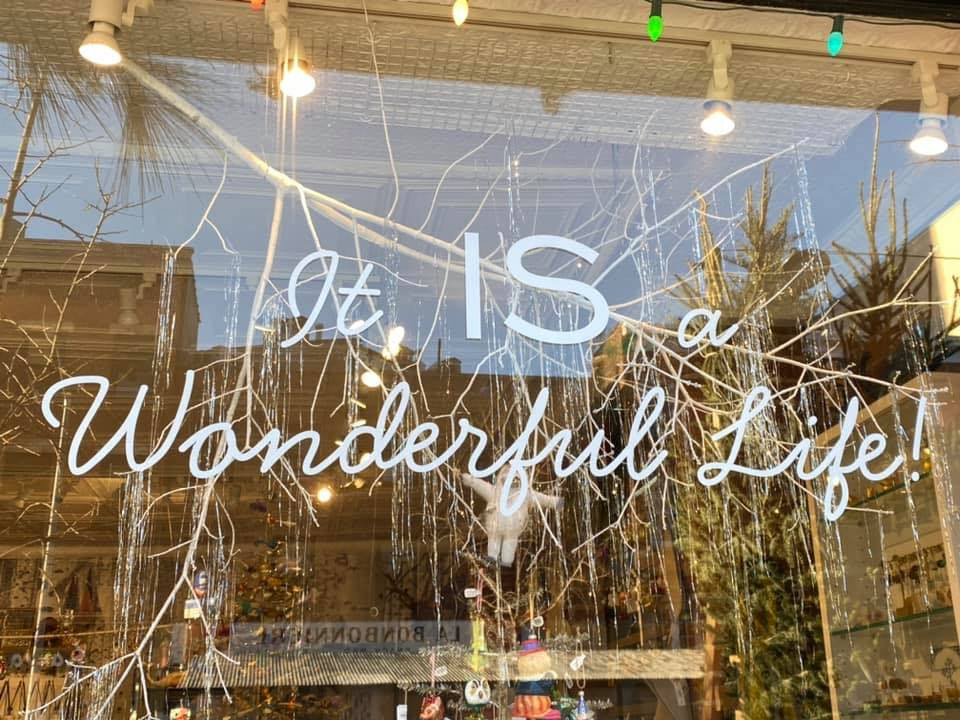 photo of shop window with legend It IS a Wonderful Life! image by Kathy Biehl